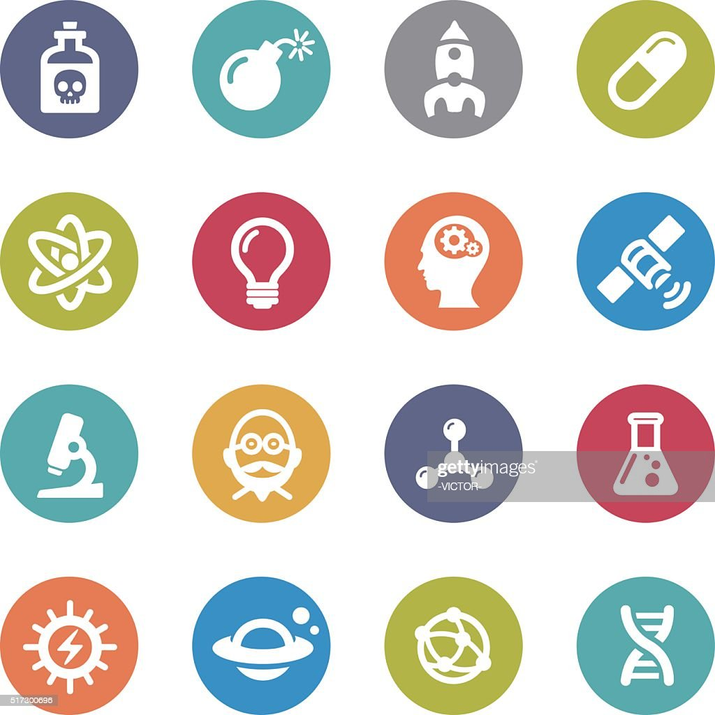 Science Icons - Circle Series