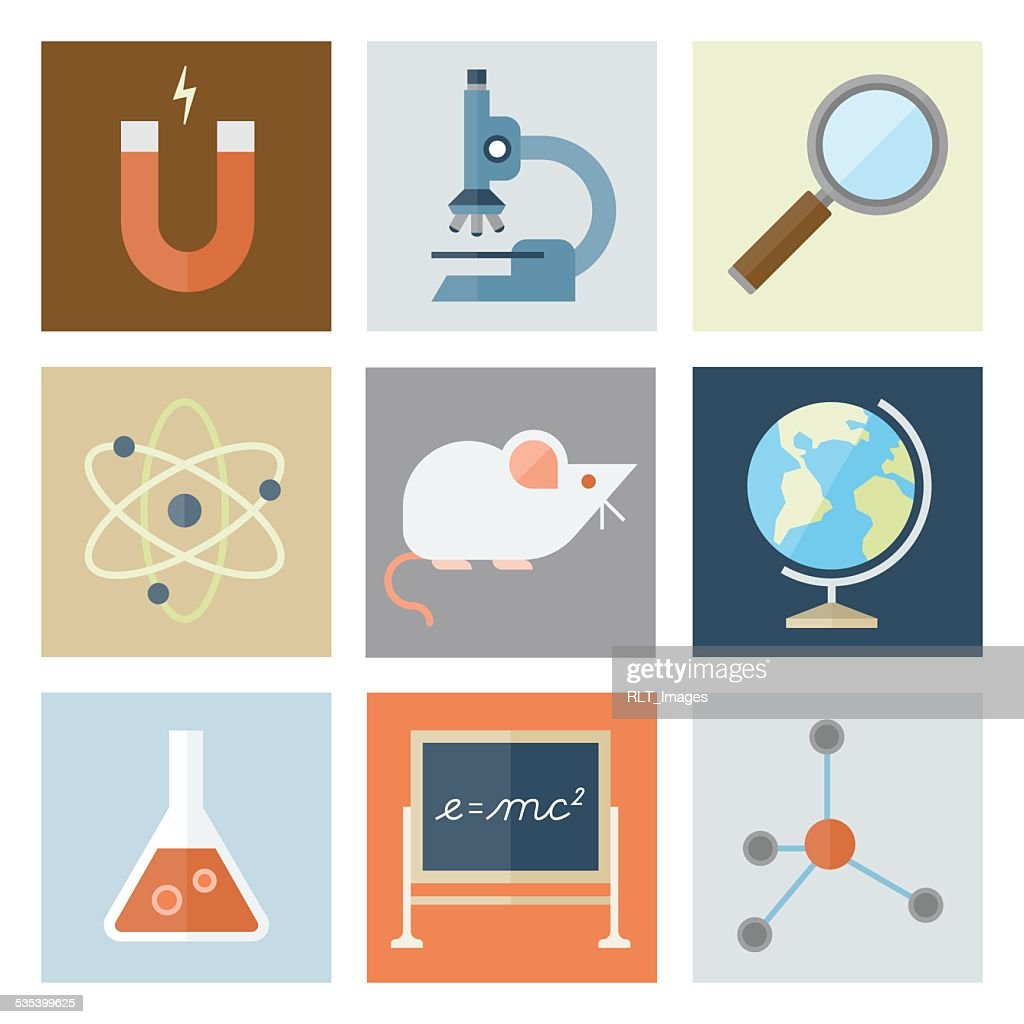 Science Icons — Flat Series