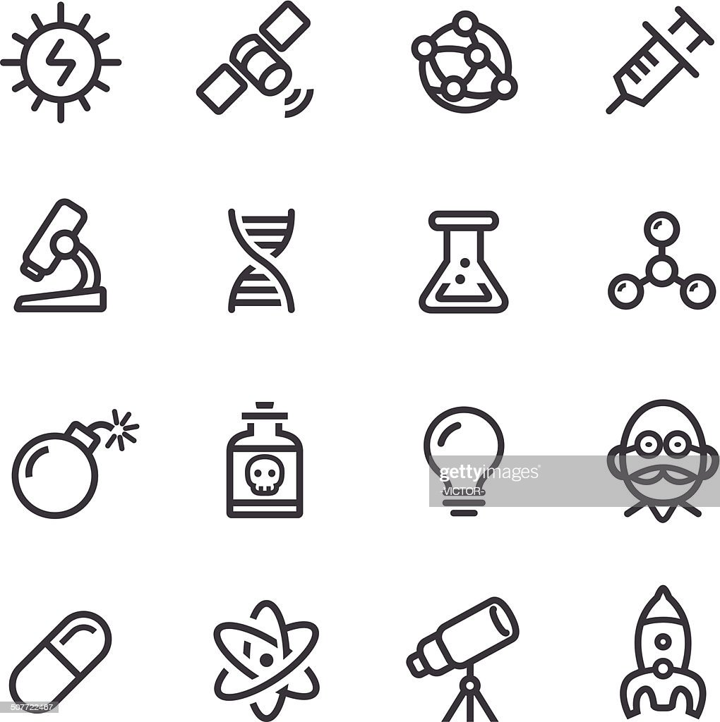 Science Icons - Line Series : stock illustration