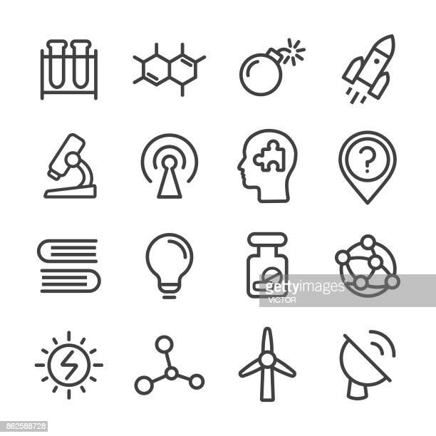 Science Icons Set - Line Series