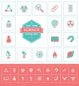 Science icons set one
