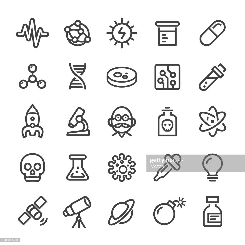 Science Icons - Smart Line Series : stock illustration