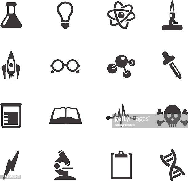 science icons - physics stock illustrations