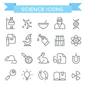 Science icons.