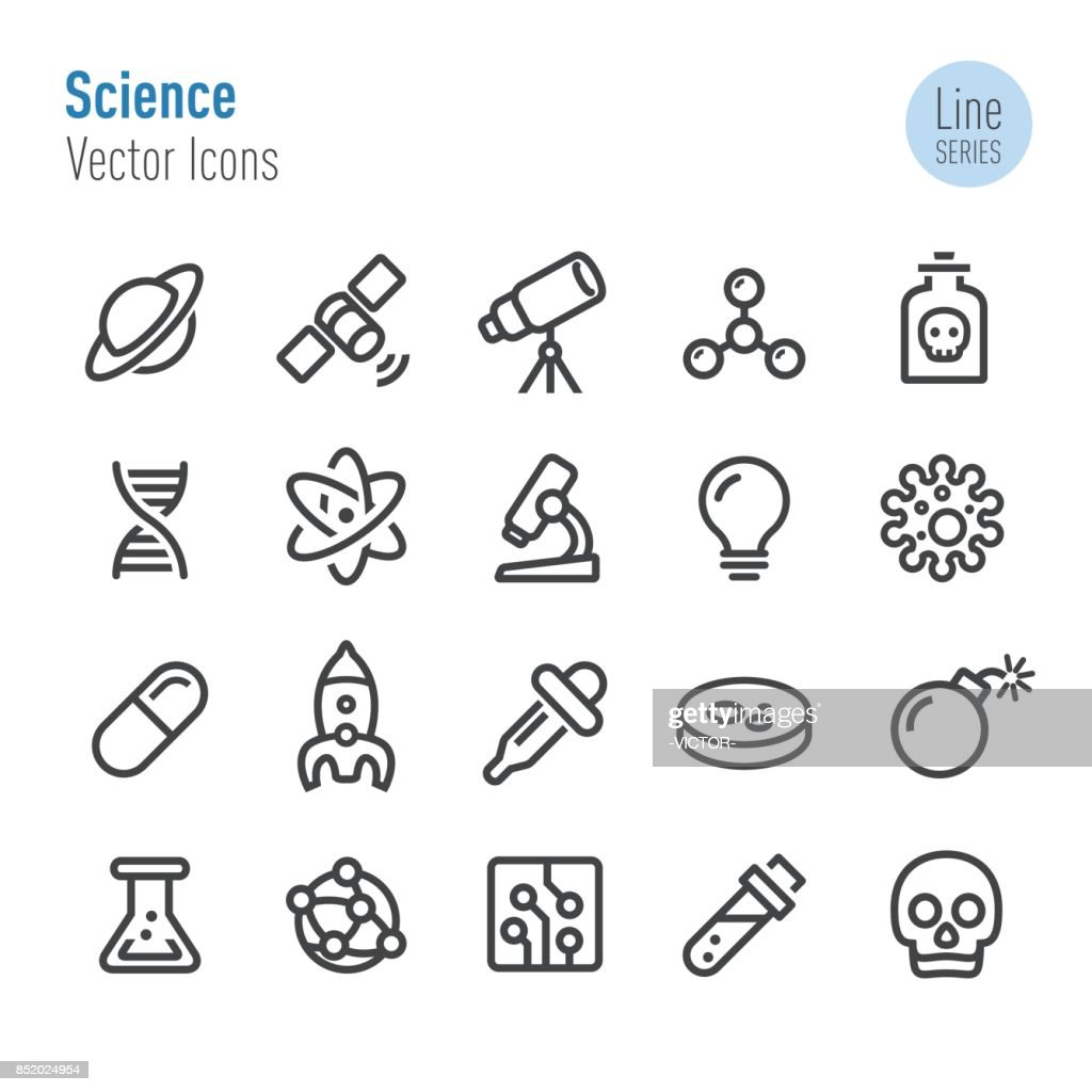 Science Icons - Vector Line Series : stock illustration