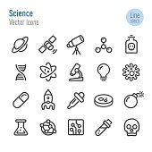 Science Icons - Vector Line Series