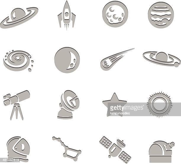 ilustraciones, imágenes clip art, dibujos animados e iconos de stock de iconos de la ciencia impresión - galaxia espiral