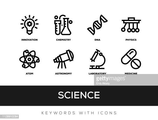 science keywords with icons - genetic modification stock illustrations, clip art, cartoons, & icons
