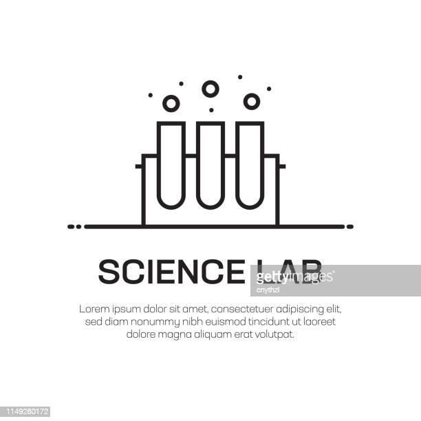 science lab vector line icon - simple thin line icon, premium quality design element - beaker stock illustrations
