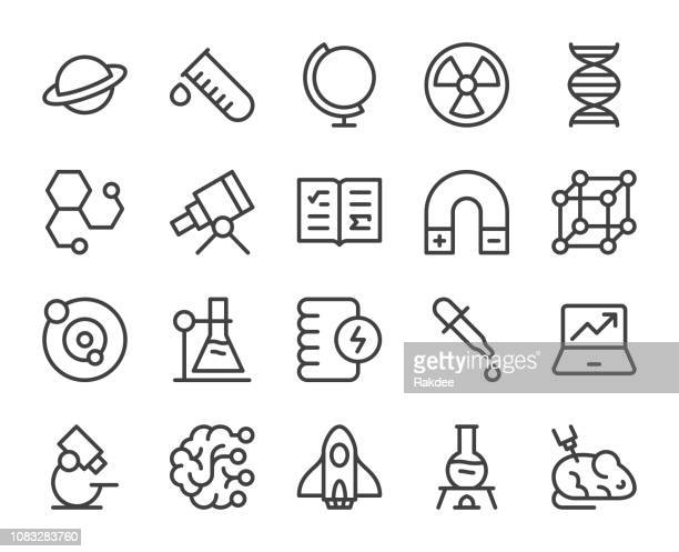 science - line icons - stem topic stock illustrations