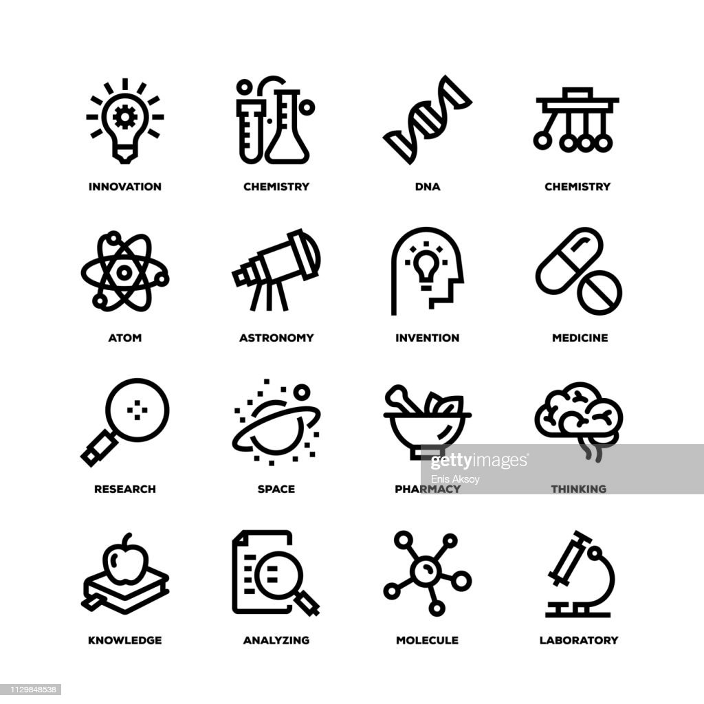 Science Line Icons : stock illustration