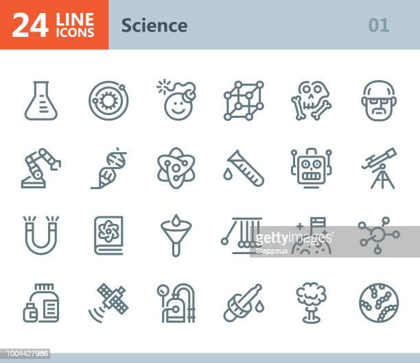 Science - line vector icons