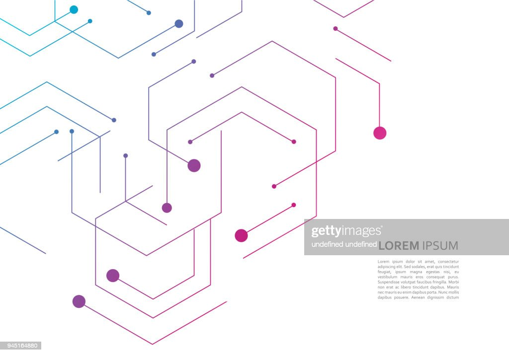 Science network pattern, connecting lines and dots on simple background