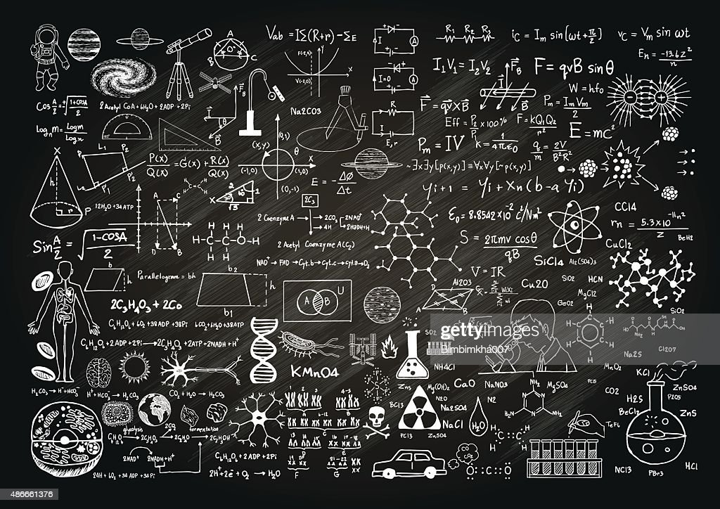 science on chalkboard
