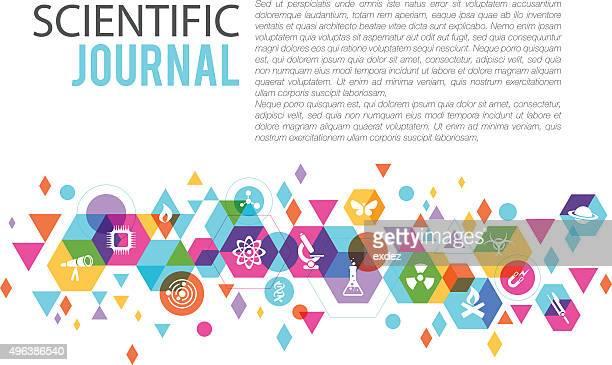 科学ページのデザイン - 電子点のイラスト素材/クリップアート素材/マンガ素材/アイコン素材