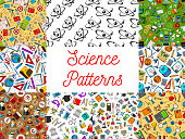 Science seamless patterns