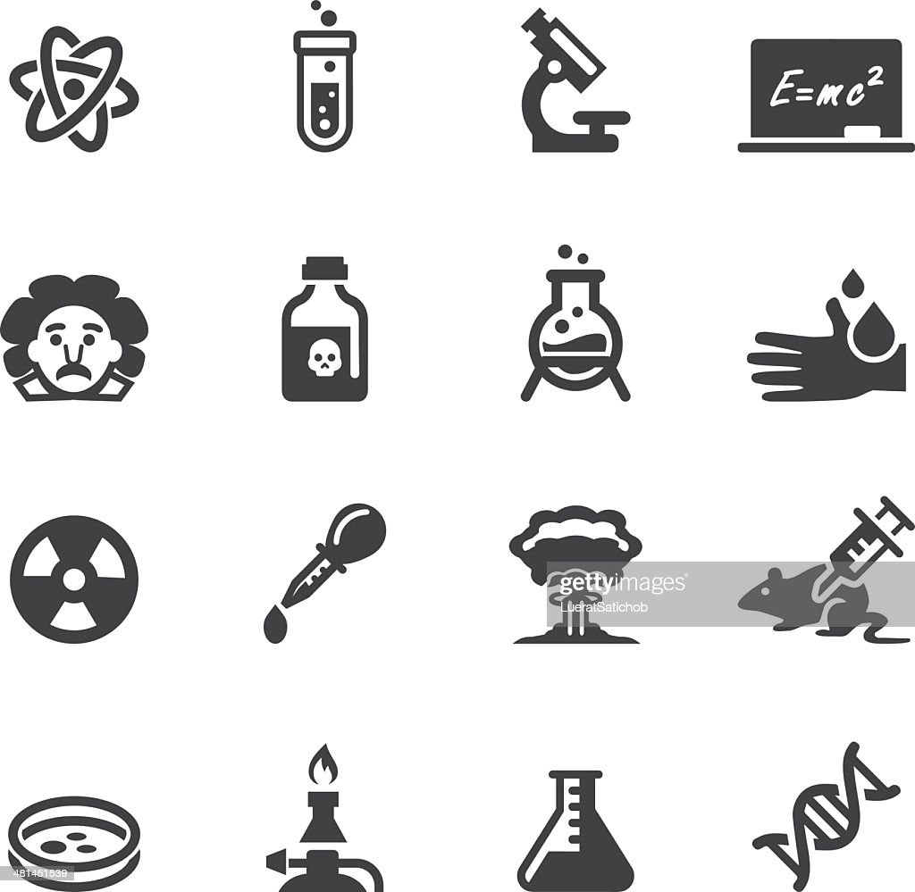 Science Silhouette  icons : stock illustration