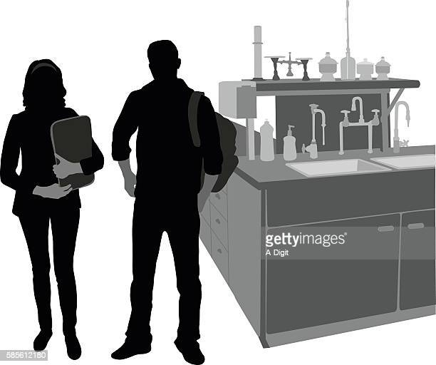 science students in the lab - high school student stock illustrations, clip art, cartoons, & icons