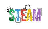 STEAM - science, technology, engineering, arts, mathematics. Education concept