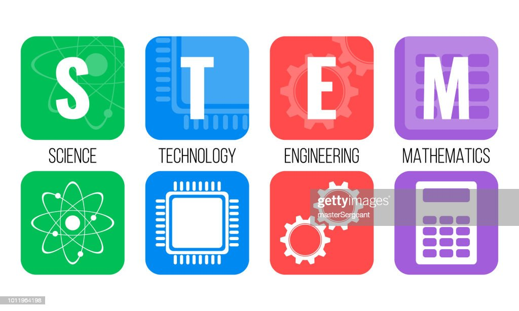 STEM - science, technology, engineering, mathematics. Education concept