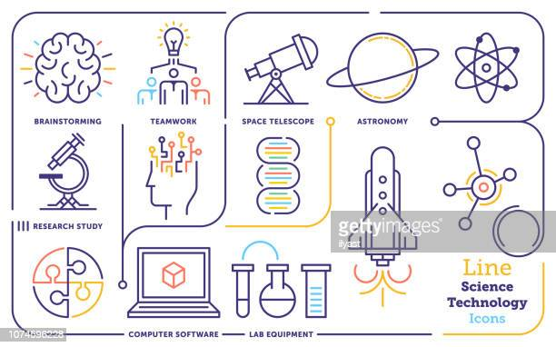 Science & Technology Line Icon Set
