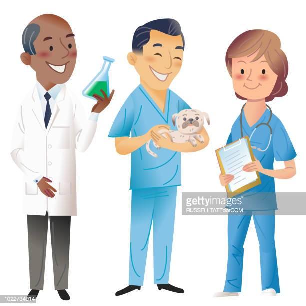 science, vet, med, pharmacy - veterinarian stock illustrations, clip art, cartoons, & icons