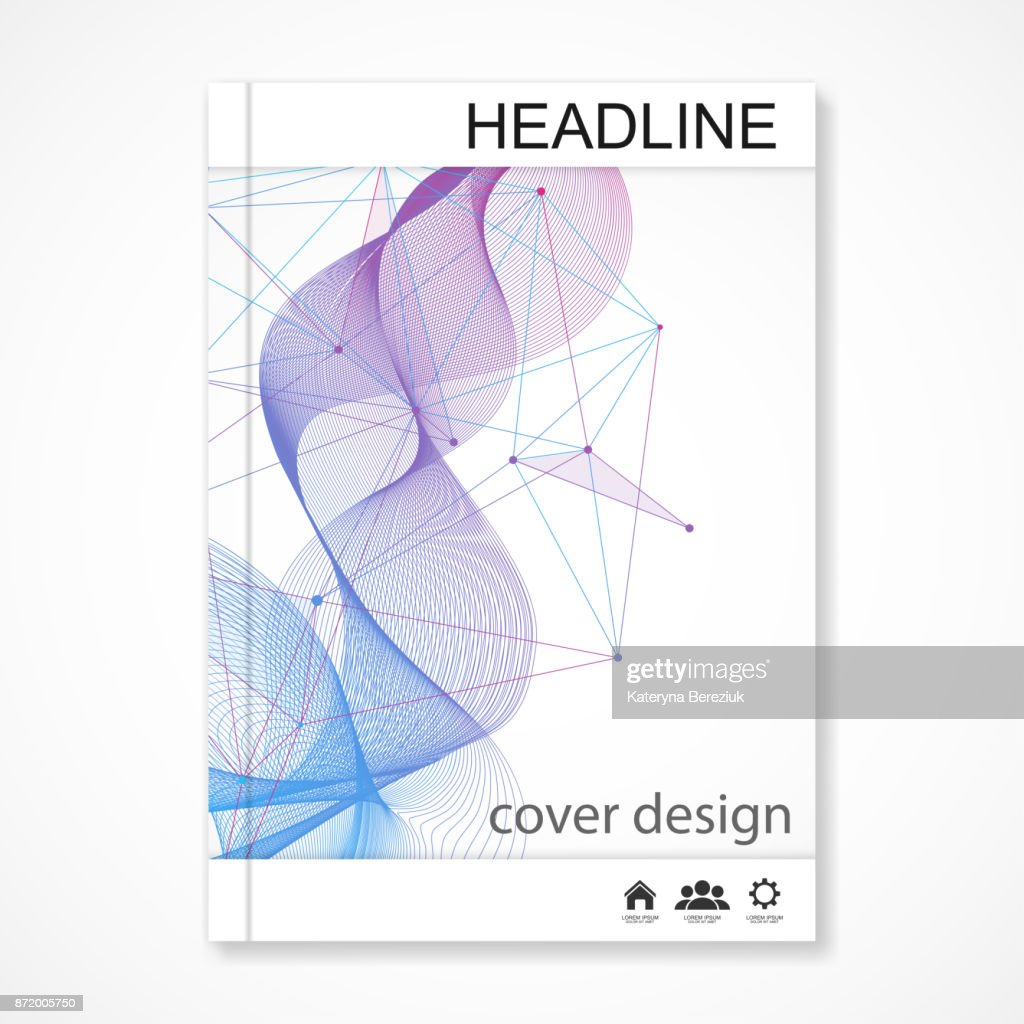 Scientific brochure design template vector flyer layout molecular vector flyer layout molecular structure with connected lines and dots scientific pattern atom dna with elements for magazine leaflet cover poster ccuart Images