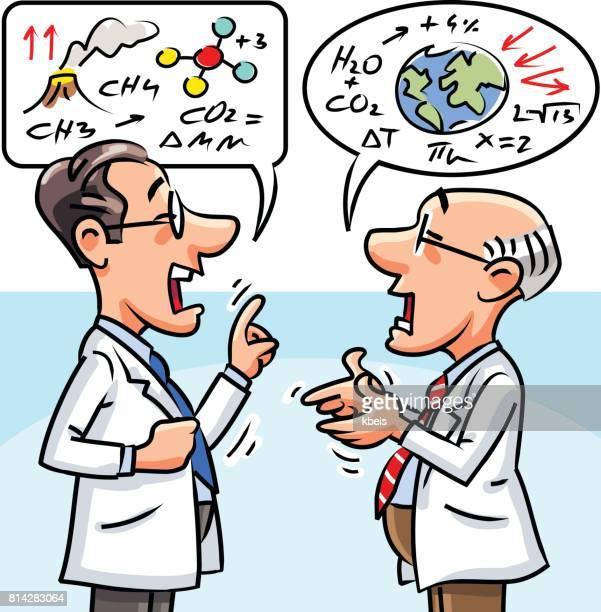 scientific debate - climate stock illustrations, clip art, cartoons, & icons
