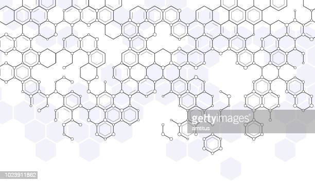 scientific hexagons - nanotechnology stock illustrations