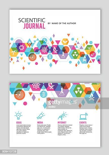 illustrations, cliparts, dessins animés et icônes de scientifique journal conception - science et technologie