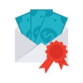 Scientific Prize or Grant Vector Icon