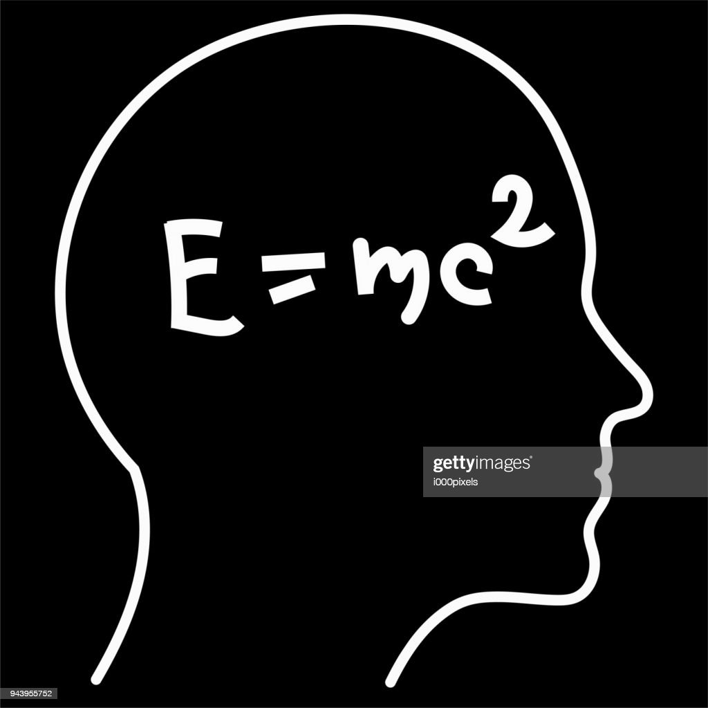 Scientific thinking. Outline of head filling formulas. Can illustrate topics related to science