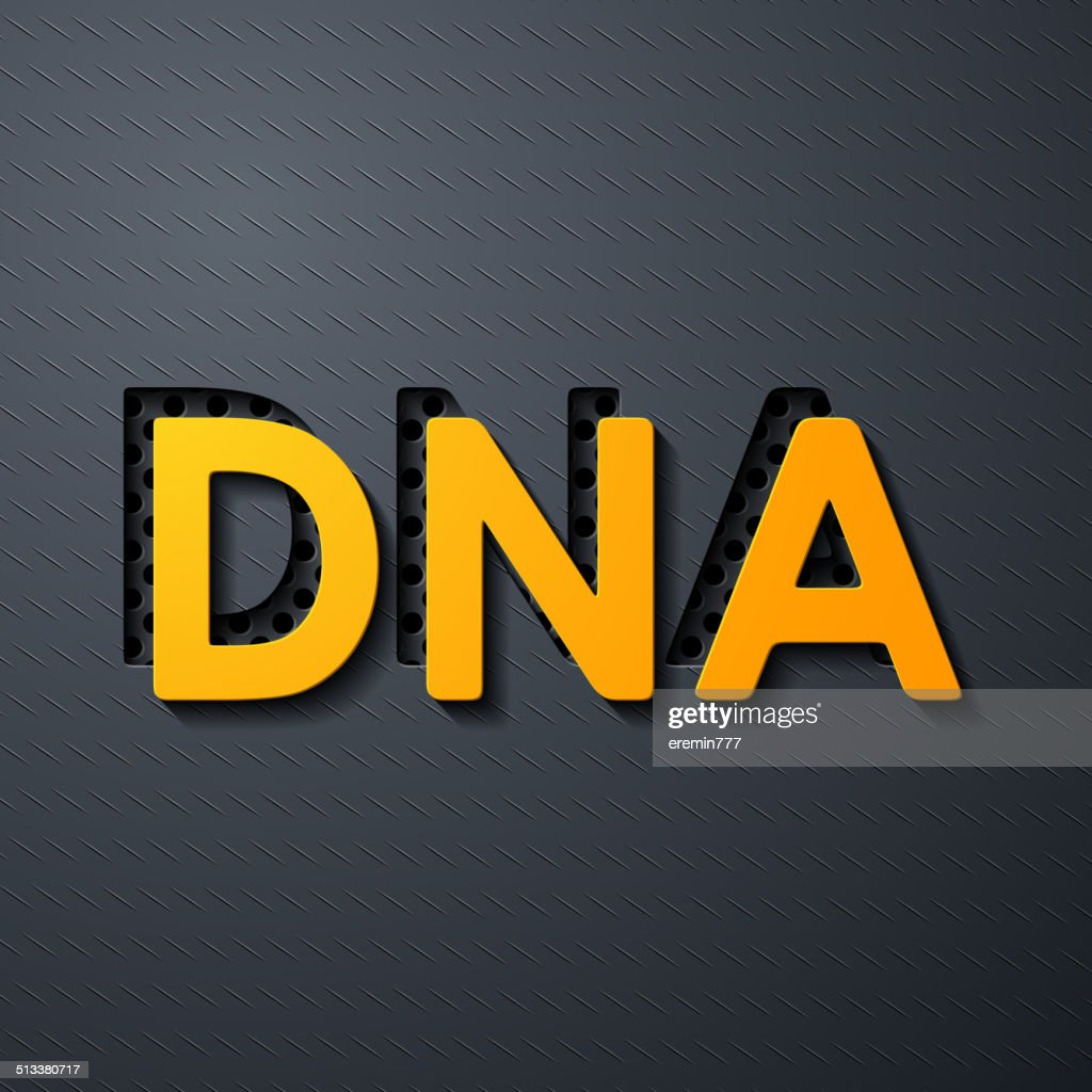 Scientific Word Dna Layers Of Metal And Flat Surfaces Vector Art ...