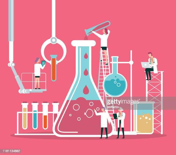 ilustrações, clipart, desenhos animados e ícones de equipe do cientista ou do químico - vestuário de proteção