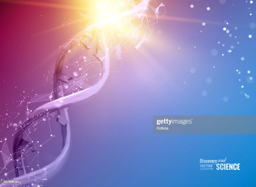 Scince illustration of a DNA molecule