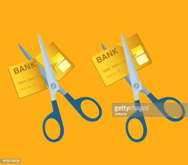 scissors cutting money - charging sports stock illustrations
