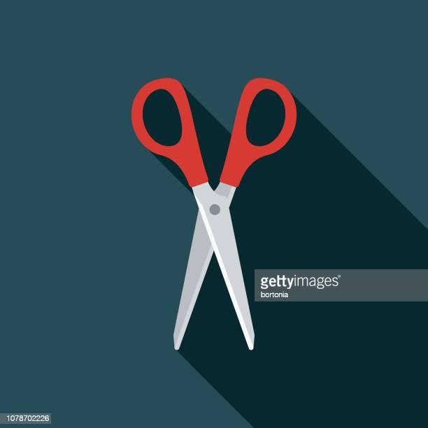 Scissors Flat Design Sewing Icon