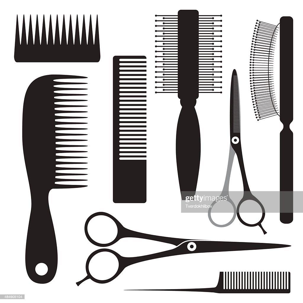 scissors hairbrush hairdresser