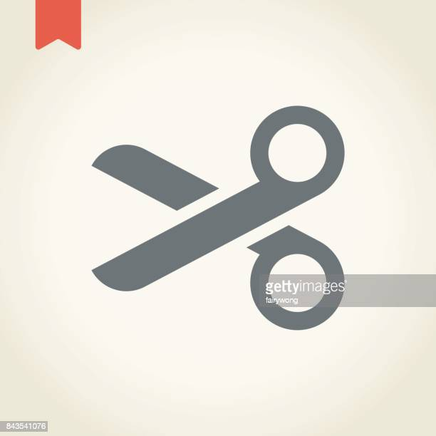 scissors icon - classical theater stock illustrations, clip art, cartoons, & icons