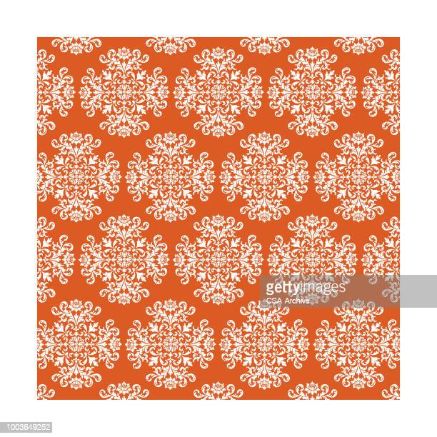 scoll floral pattern reverse - filigree stock illustrations