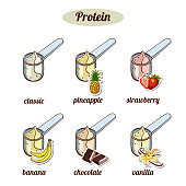 Scoops_With_Different_Protein_Powder