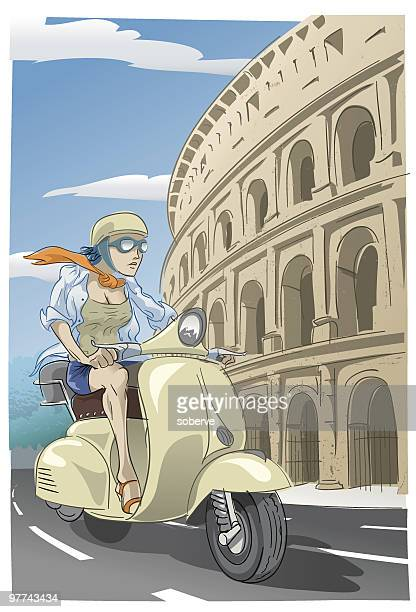 Scooter at the Colosseum