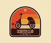 Scooter Club Badge or Emblem