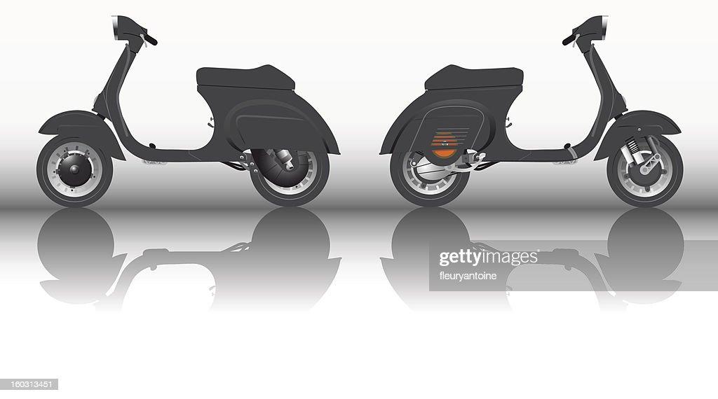 Scooter ItalienVespa noire vintage