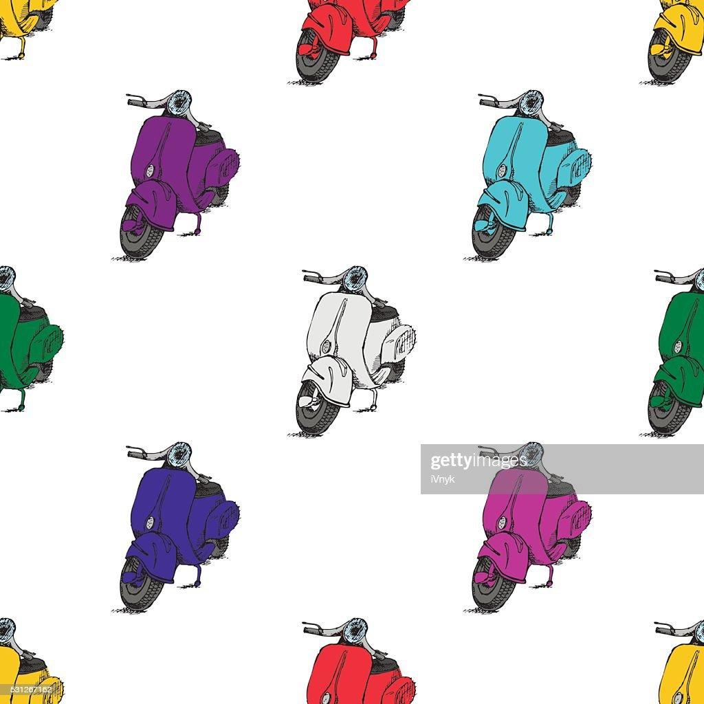 Scooter motorbike Vespa