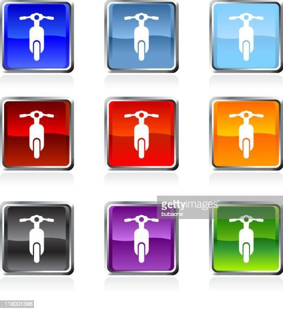 stockillustraties, clipart, cartoons en iconen met scooter royalty free vector art in nine colors - moped