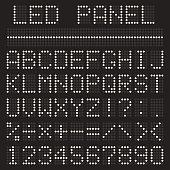 Scoreboard font alphabet