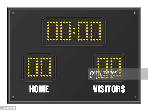 scoreboard - scoring stock illustrations