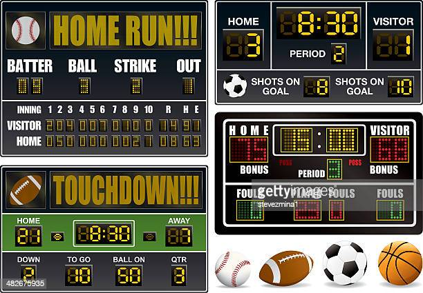 scoreboards - scoring stock illustrations