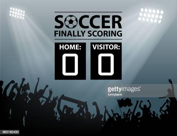 scoring silhouette - football scoreboard stock illustrations